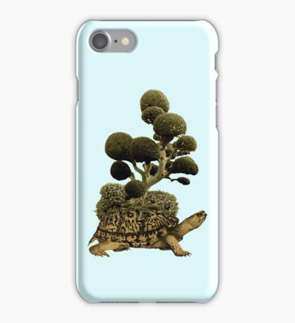 A Turtle Transporting Topiary iPhone Case/Skin