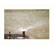 Sprinkler Spray, Vancouver, British Columbia Art Print
