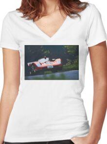 Ferrari 512S at Nürburgring Women's Fitted V-Neck T-Shirt