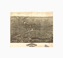 Vintage Pictorial Map of Rochester NY (1880) Unisex T-Shirt