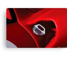 Ferrari fuel cap Canvas Print