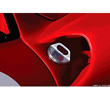 Ferrari fuel cap Photographic Print