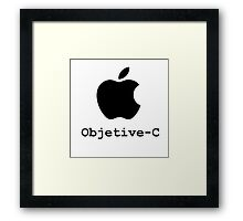 objetive-c programming language Framed Print