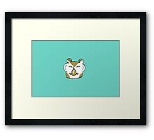 Happy Hamster Eating Framed Print