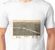 Vintage Map of Rockford Illinois (1880) Unisex T-Shirt