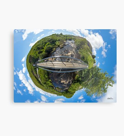 Footbridge over Glen River, Carrick, SW Donegal Metal Print