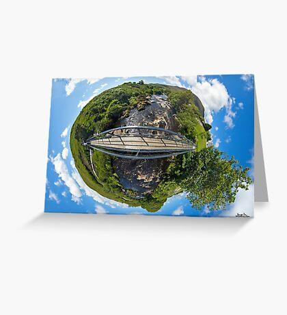 Footbridge over Glen River, Carrick, SW Donegal Greeting Card