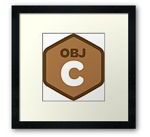 objetive-c programming language objetive c Framed Print
