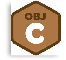 objetive-c programming language objetive c Canvas Print