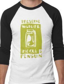 Pickle a Penguin Men's Baseball ¾ T-Shirt
