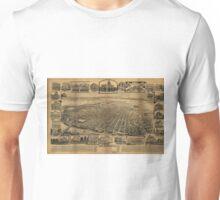 Vintage Pictorial Map of Sacramento CA (1890s) Unisex T-Shirt