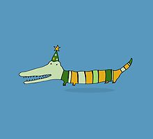 Stripey Mr Crocodile by Scruffworld
