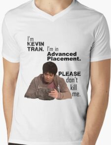Kevin Tran - Supernatural - Advanced Placement - Black Text Mens V-Neck T-Shirt