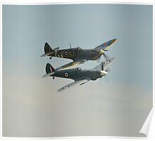 BBMF Spitfires Poster