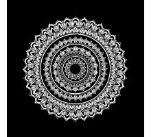 Black and White Mandala Photographic Print