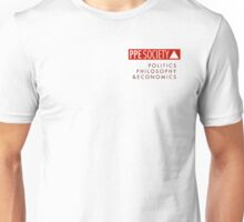 PPE small logo with text (on light) Unisex T-Shirt