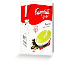 Campbell's Soup, asparagus Greeting Card