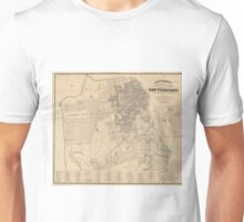 Vintage Map of San Francisco CA (1881) Unisex T-Shirt