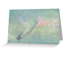 Hummingbird Tune Greeting Card