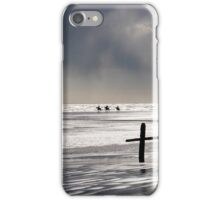 Riding on the Beach at Sunset iPhone Case/Skin