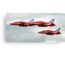 Red Arrows - 50 Display Seasons Canvas Print