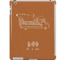 dog in a ute iPad Case/Skin