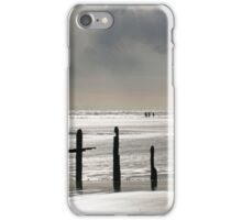 Horses Being Ridden on the Beach at Sunset iPhone Case/Skin