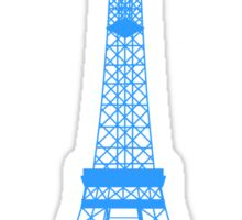 Teal Blue Eiffel Tower Sticker