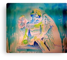 Angel with Green Ball Canvas Print