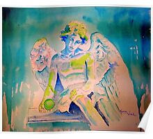 Angel with Green Ball Poster