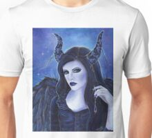 Spooky eyes dark gothic portrait by Renee Lavoie Unisex T-Shirt