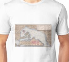 Vintage Map of San Juan Puerto Rico (1770) Unisex T-Shirt