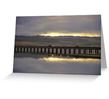 Dramatic sky at Cromarty Bridge Greeting Card