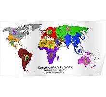 Descendants of Dragons Map Poster