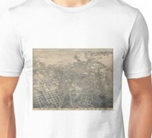 Vintage Pictorial Map of San Antonio TX (1886) Unisex T-Shirt