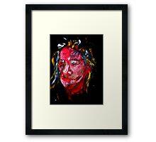 Portrait on Black Framed Print