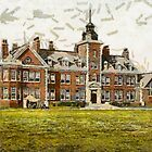 A digital painting of Rustington Convalescent Home, Littlehampton, England by Dennis Melling