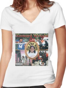 Tommy Wright On The Run Women's Fitted V-Neck T-Shirt
