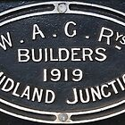 1919 WAGR Engine Plaque by threewisefrogs