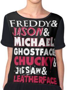 The Horror Movie T-Shirt Chiffon Top