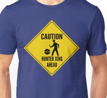 Caution Hunter Crossing Ahead Unisex T-Shirt