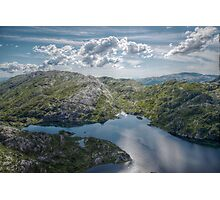 View over Øvre Krokavatnet Photographic Print
