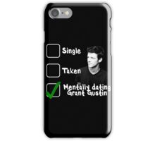Mentally Dating Grant Gustin iPhone Case/Skin