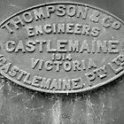 1914 Thomas & Co Engineers Builders Plate by threewisefrogs