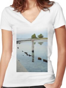 Clear Water - The Causeway - Griffiths Island Women's Fitted V-Neck T-Shirt