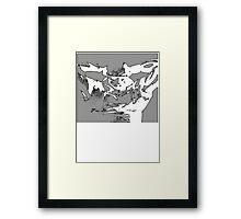 Jet Black Framed Print