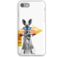Crazy cool kangaroo iPhone Case/Skin