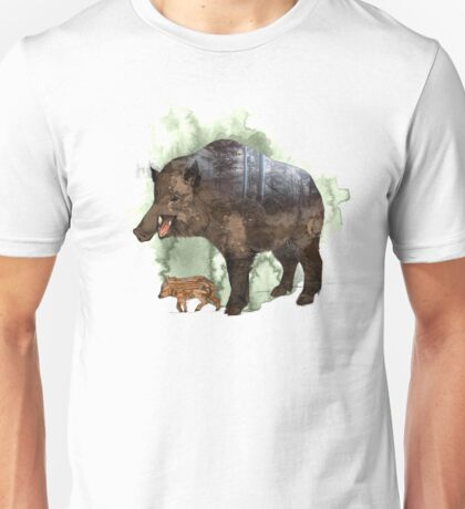 Wildschwein/Wild boar Unisex T-Shirt