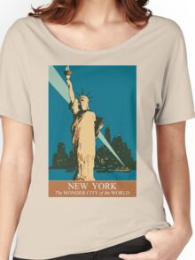 New York The Wonder City of the World Women's Relaxed Fit T-Shirt