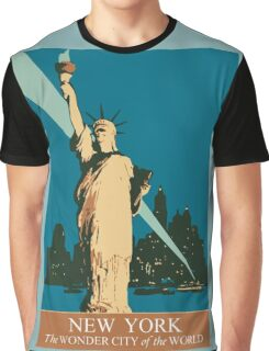 New York The Wonder City of the World Graphic T-Shirt